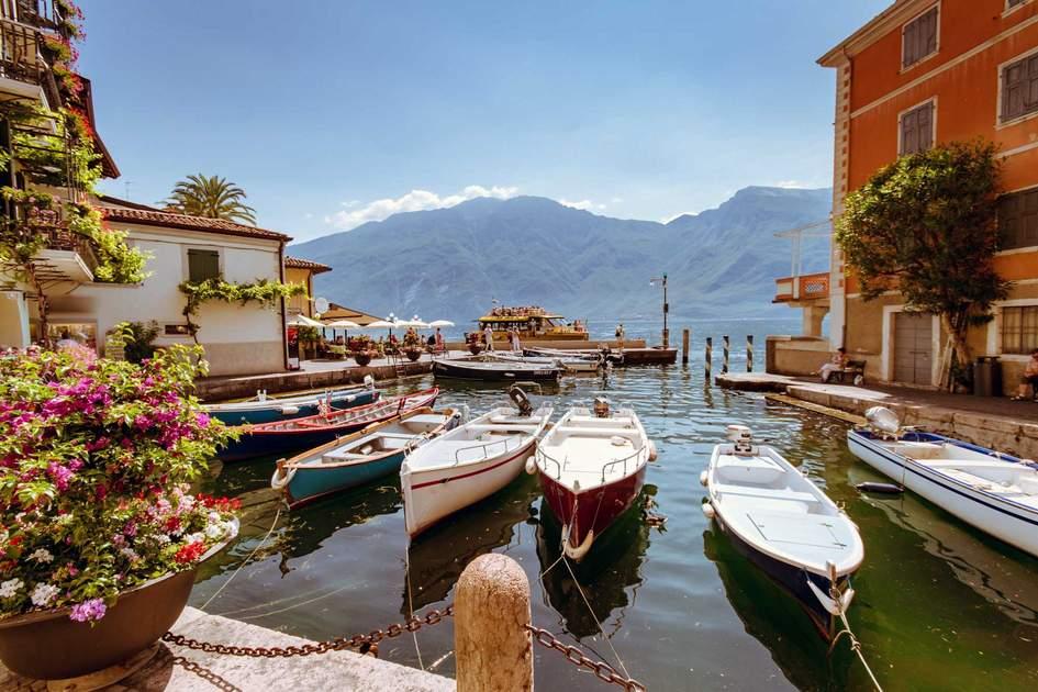 Boats moored on Lake Garda, Italy. Photo: Shutterstock