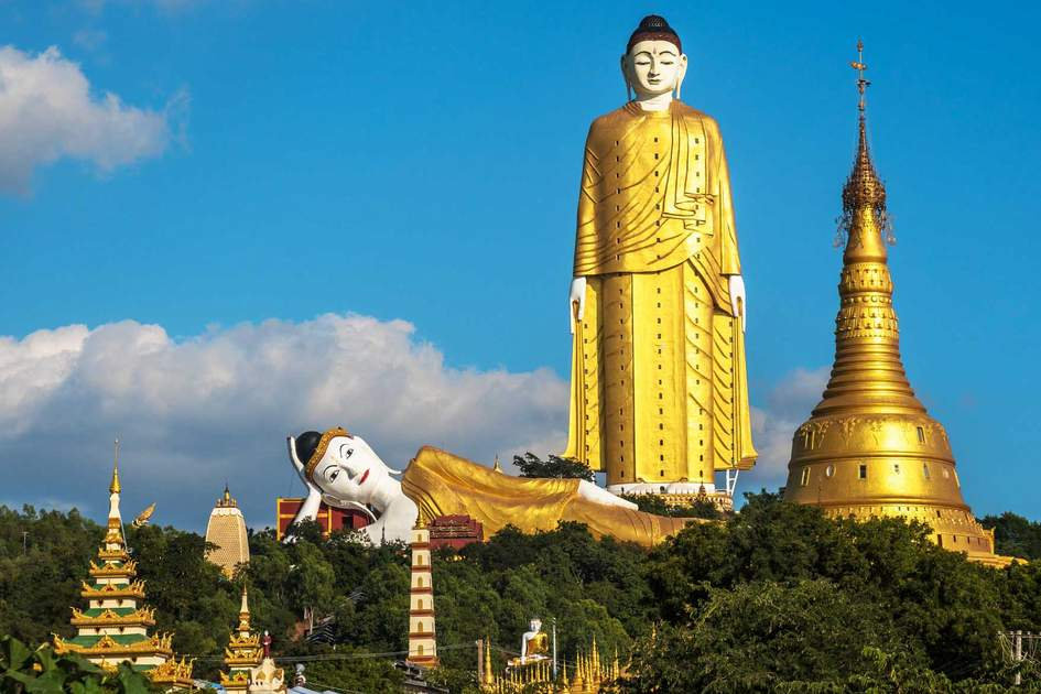 Bodhi Tataung Standing Buddha is the second tallest statue in the world. Photo: Shutterstock