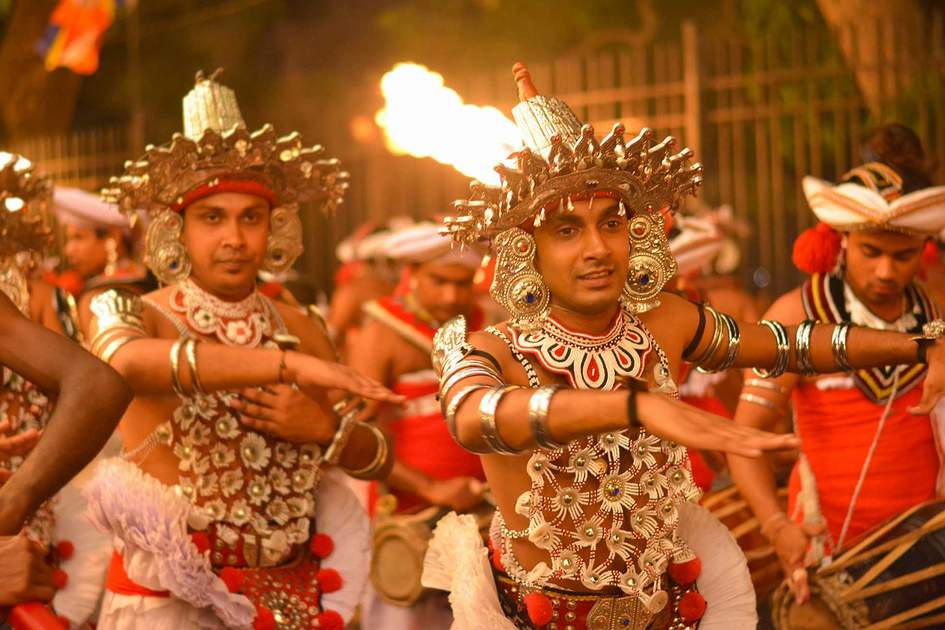 The Kandy Esala procession in Kandy, Sri Lanka. Photo: Shutterstock