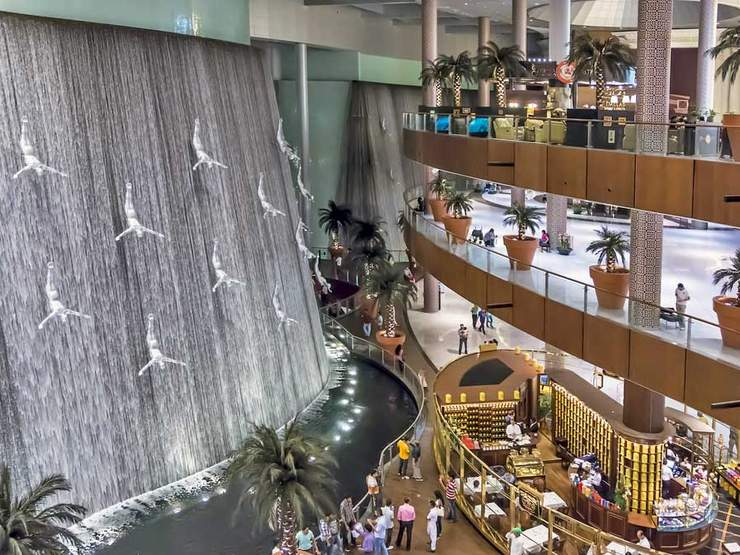 Image result for dubai mall waterfall hd pics
