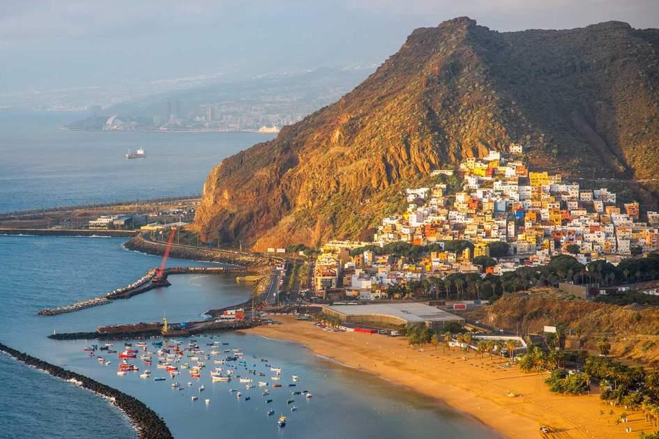 Teresitas beach near Santa Cruz de Tenerife on Canary islands, Spain. Photo: Shutterstock