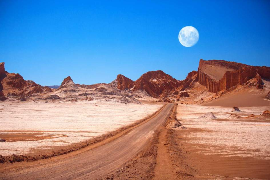 Valle de la Luna in the Atacama Desert, Chile. Photo: Shutterstock