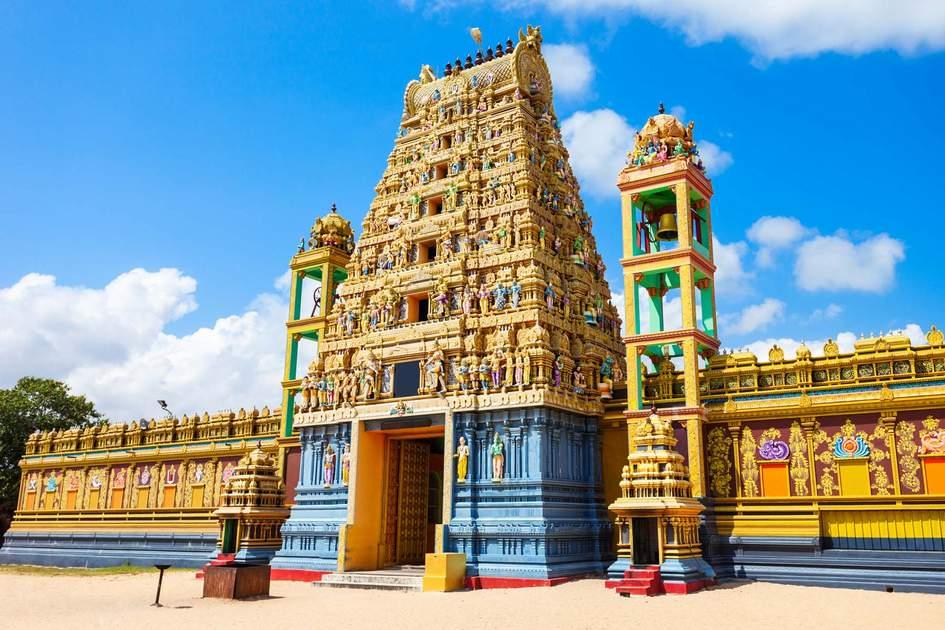 Valipura Aalvar Vishnu Kovil hindu temple near Jaffna, Sri Lanka.