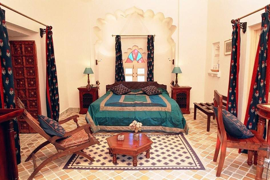 Deluxe room at Deogarh Mahal. Photo: Lodgingeo