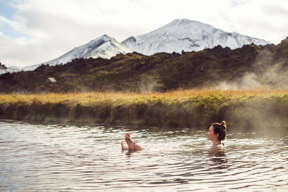 Icelandic geothermal pool with a view. Photo: Shutterstock
