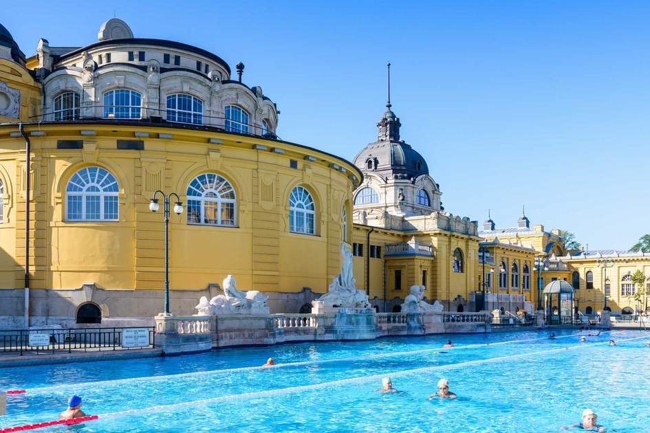 Széchenyi Thermal Baths complex, Europe's largest medicinal baths. Photo: Shutterstock