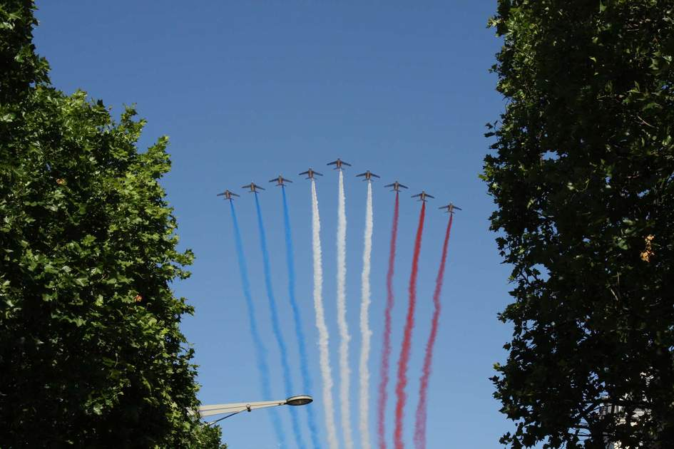 The Bastille Day military parade. Photo: Shutterstock