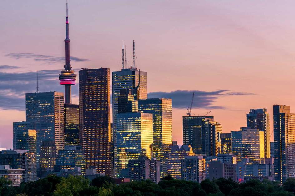 Toronto skyline at dusk. Photo: Shutterstock