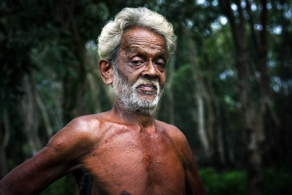 Sri Lankan vedda man. Photo: Shutterstock