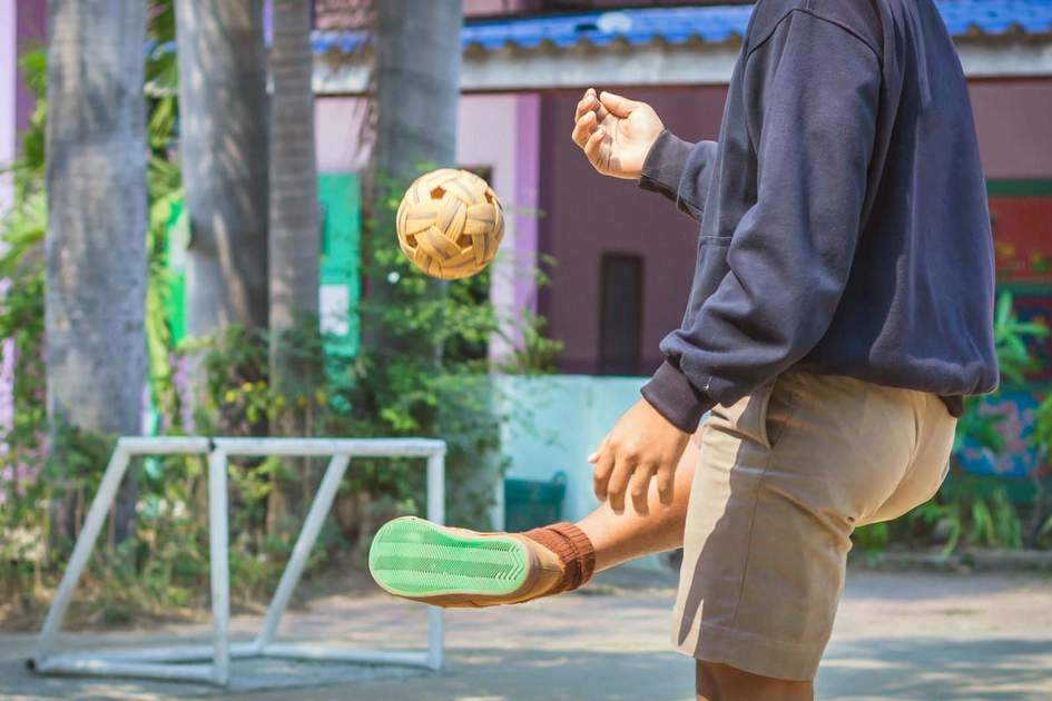 Playing sepak takraw. Photo: Shutterstock