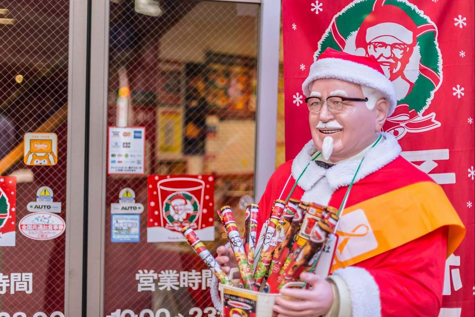 KFC in Japan decoration in Santa Claus in Winter christmas season promotion. Photo: Shutterstock
