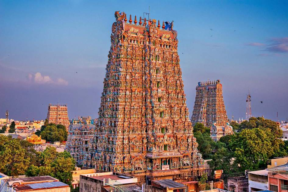 Meenakshi Amman Temple, Madurai. Photo: NV Studio/Shutterstock