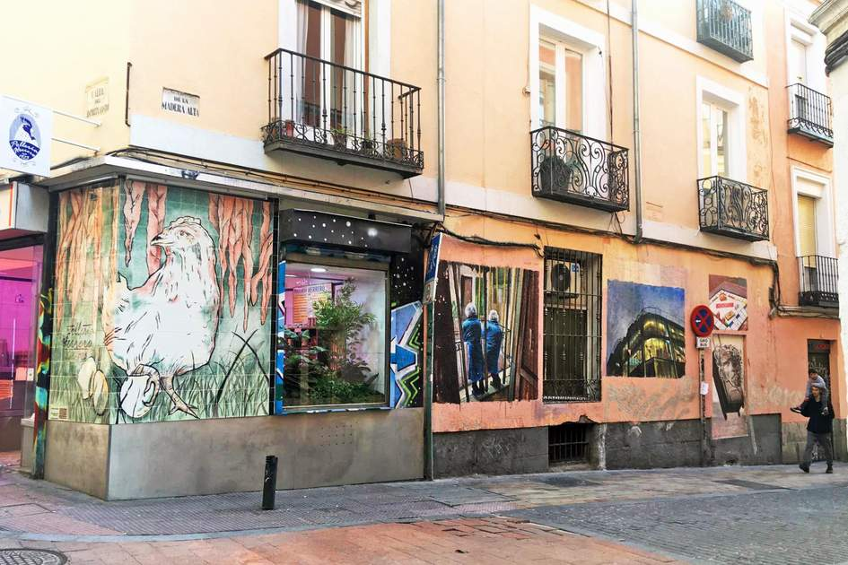 Street art in Madrid. Photo: Jenny Cahill-Jones