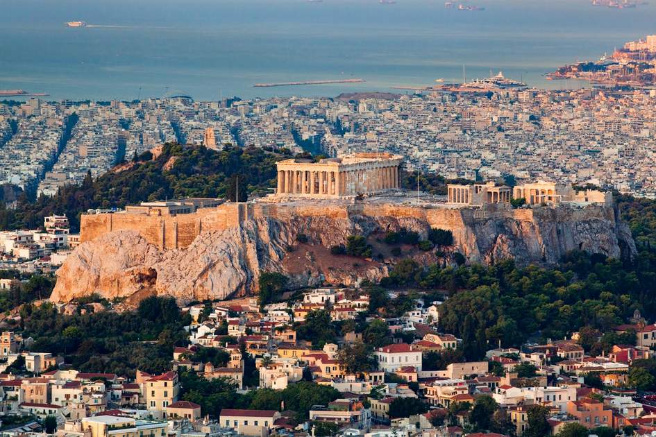 View of the Acropolis from Lycabettus Hill, Athens. Photo: Melinda Nagy/Shutterstock