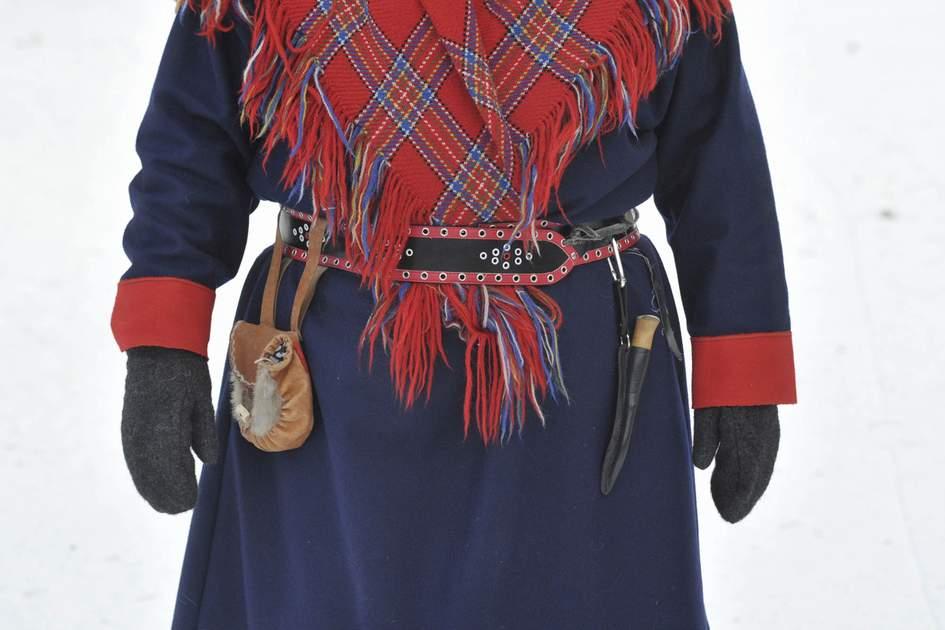 Traditional Sami dress, Inari, Finland. Photo: FREEDOMPIC/Shutterstock