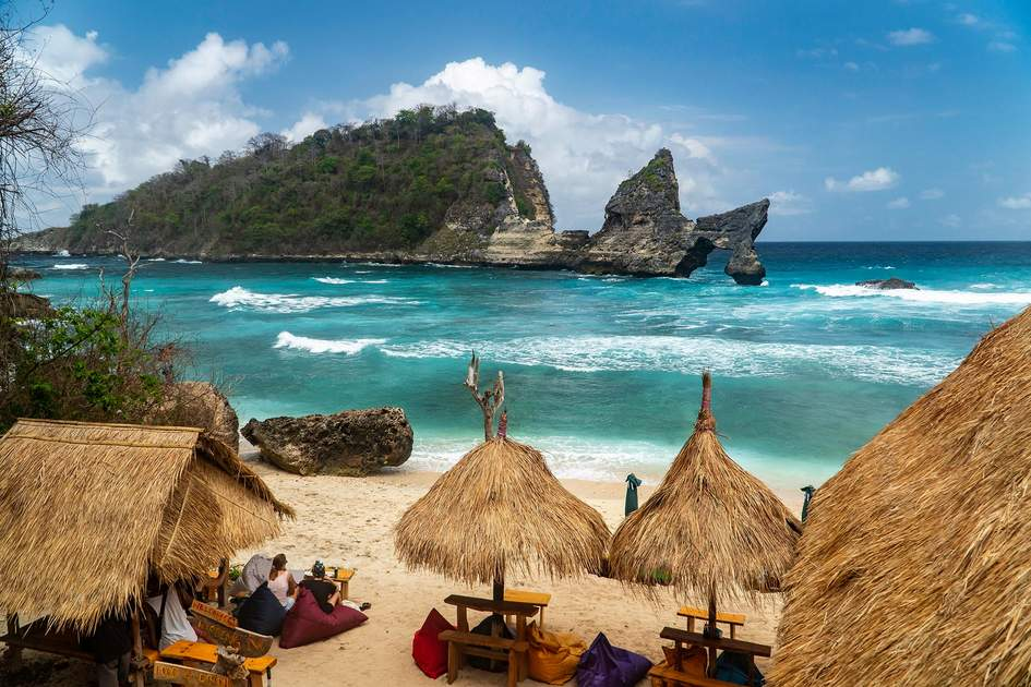 Atuh Beach, Nusa Penida, Bali – a wonderful destination to head for in July and August. Photo: Adel Newman/Shutterstock