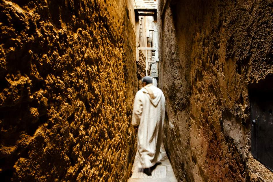 Narrow alley in Fez Medina, Morocco. Photo: Adwo/Shutterstock