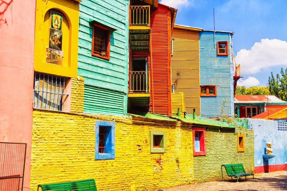 Colorful street in La Boca neighborhood, Buenos Aires. Photo: Milosz Maslanka/Shutterstock