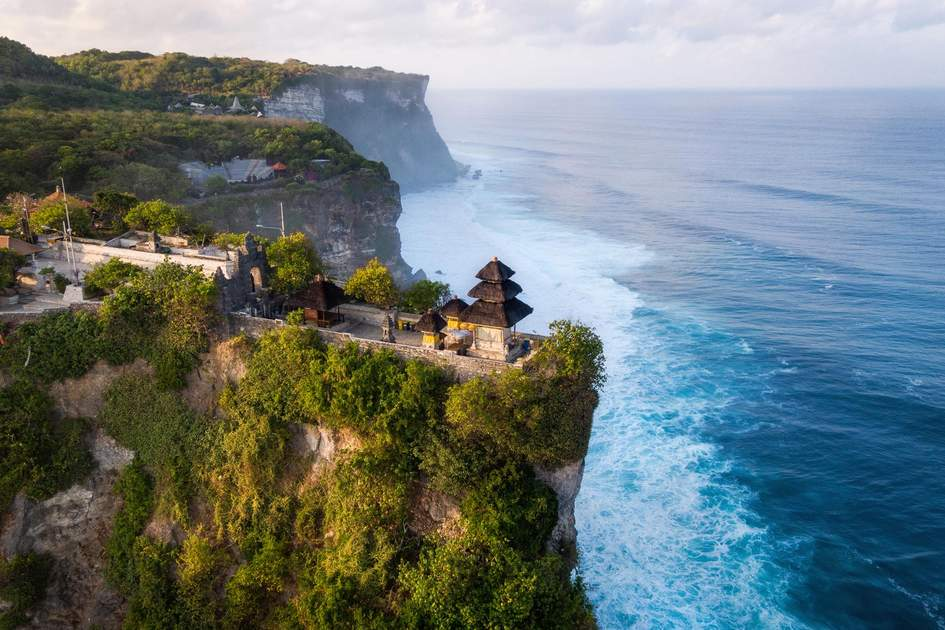 Aerial view of Pura Luhur Uluwatu, Bali. Photo: R.M. Nunes/Shutterstock