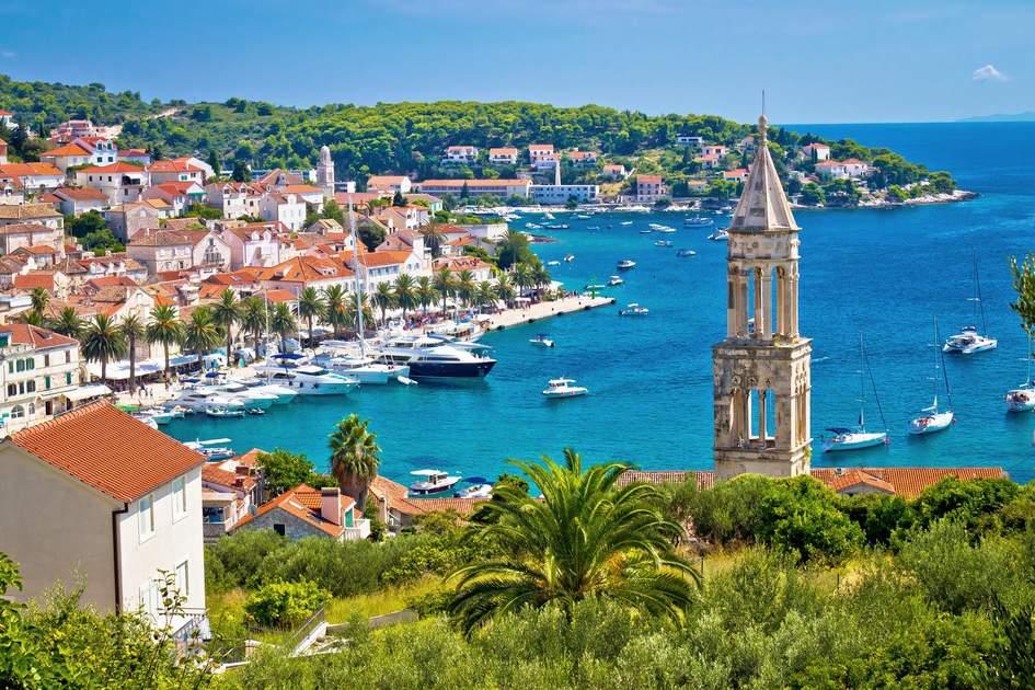 The harbor in Hvar. Croatia. Photo: xbrchx/Shutterstock