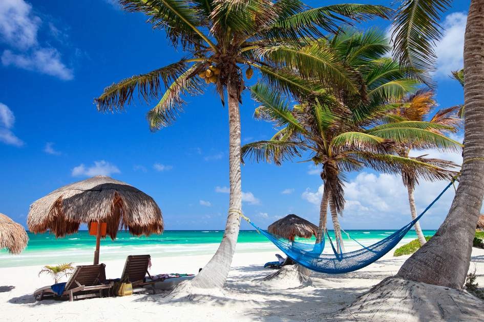 Idyllic Caribbean beach in Tulum, Mexico. Photo: BlueOrange Studio/Shutterstock