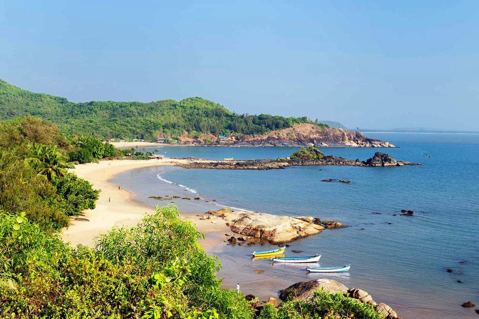 Om Beach, Gokarna, Karnataka – one of the best beaches in South India. Photo: Rafal Cichawa/Shutterstock