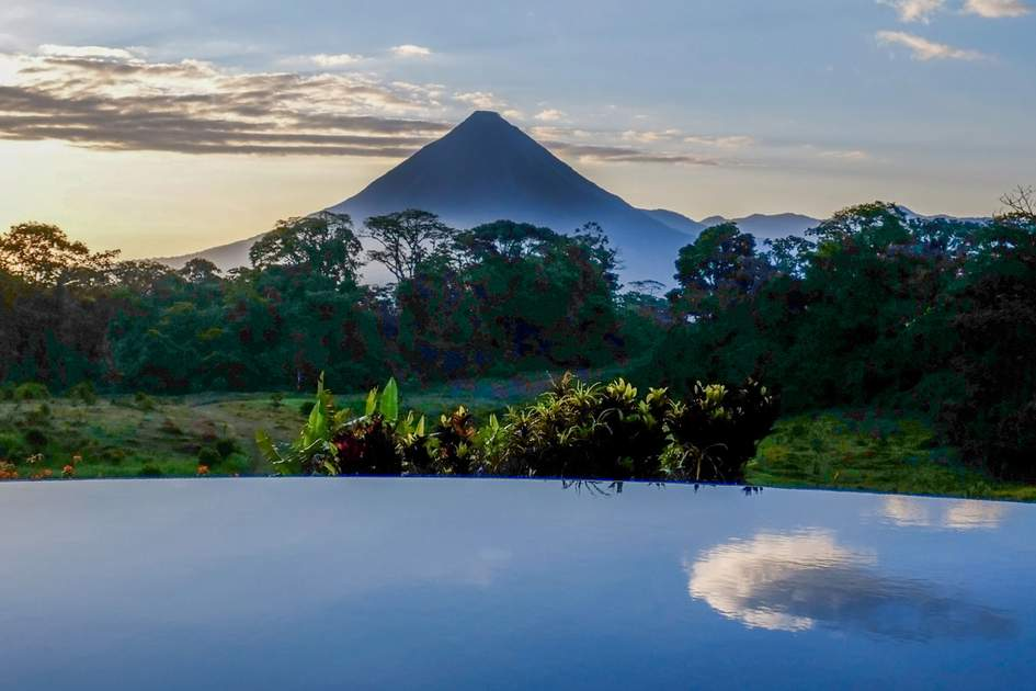 Arenal Volcano at dawn. Photo: Gill Copeland/Shutterstock