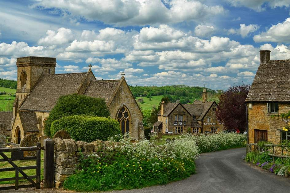 The village of Snowshill in the Cotswolds, England. Photo: SScott514/Shuterstock