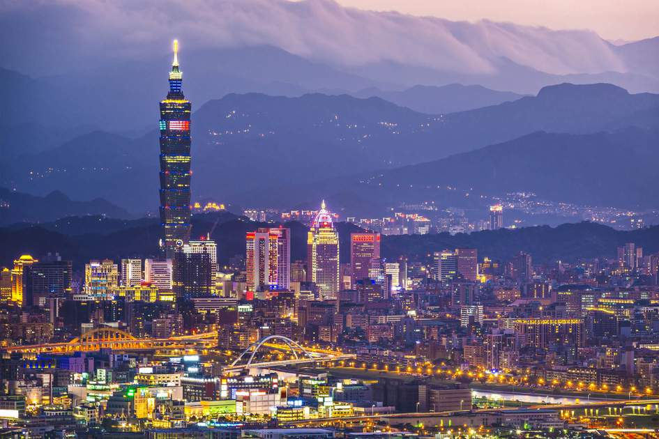 Taipei skyline, Taiwan. Photo: Sean Pavone/Shutterstock
