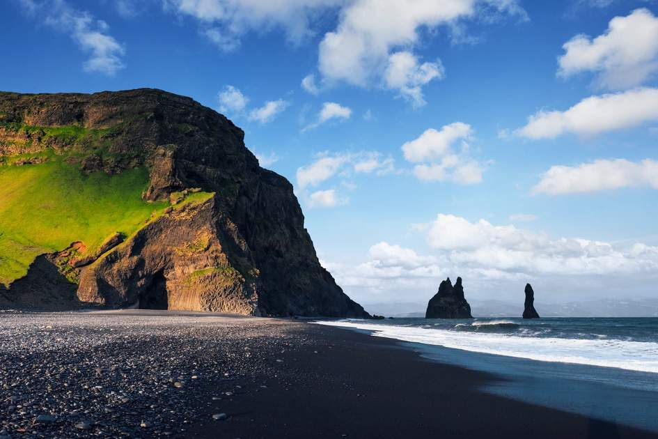 The black-sand beach at Reynisfjara is one of the best Game of Thrones filming locations in Iceland. Photo: Standret/Shutterstock