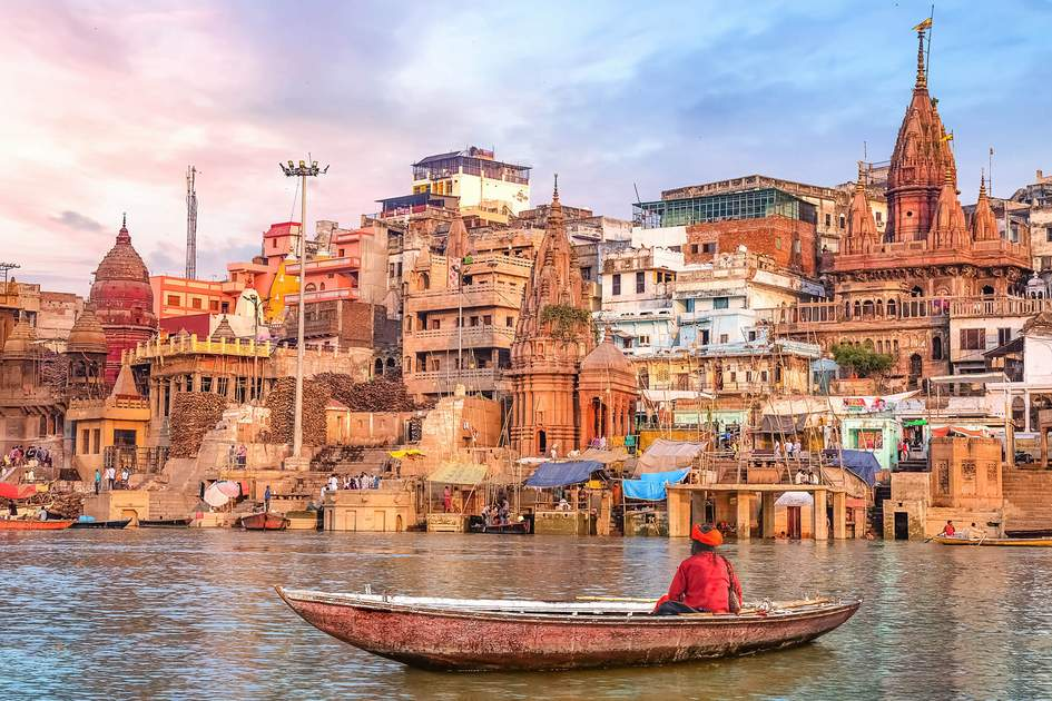 Varanasi at sunset. Photo: Roop_Dey/Shutterstock