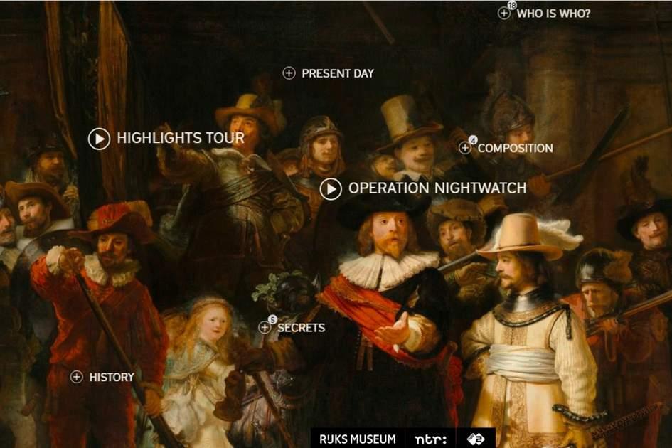 Rijksmuseum Nightwatch virtual tour