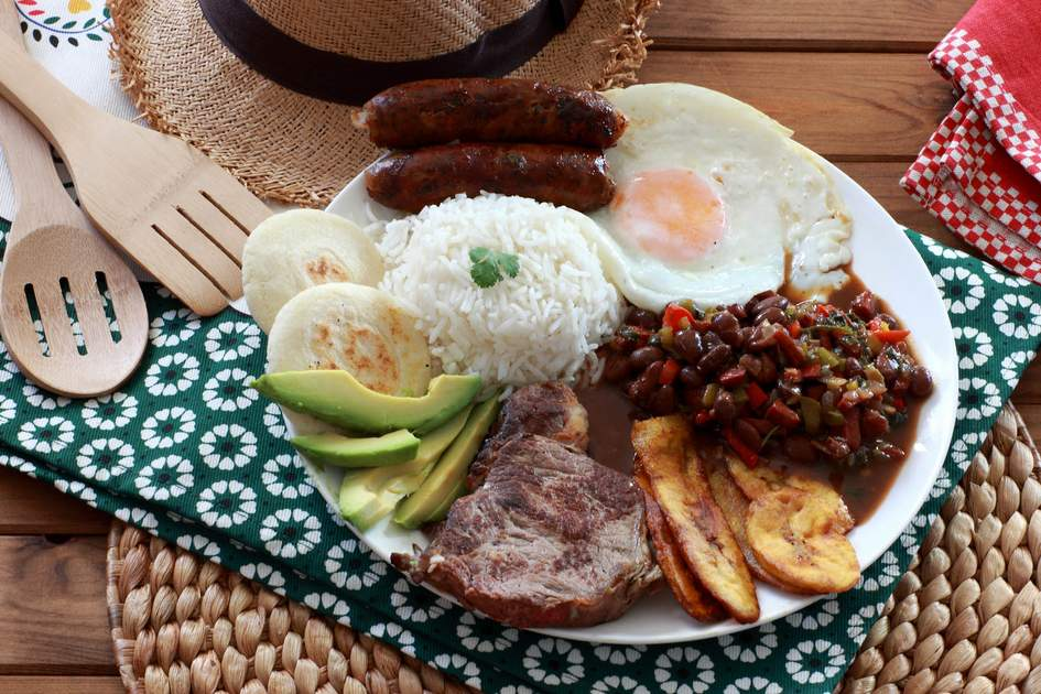 Bandeja Paise, a traditional colombian meal. Photo: SteAct/Shutterstock