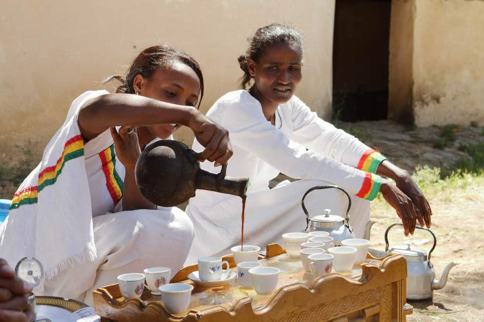The traditional coffee ceremony in Ethiopia. Photo: hecke61/Shutterstock