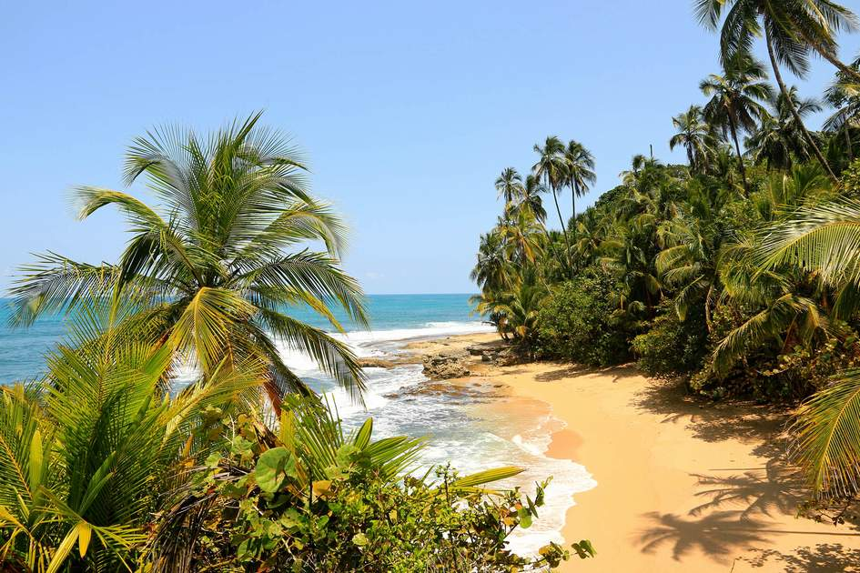 Beautiful beach in Manzanillo, Caribbean Sea, Costa Rica. Photo: Inga Locmele/Shutterstock