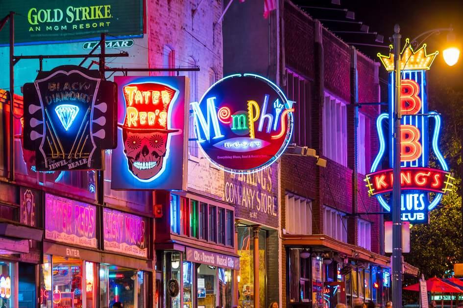 Neon signs on Beale Street. Photo: f11photo/Shutterstock