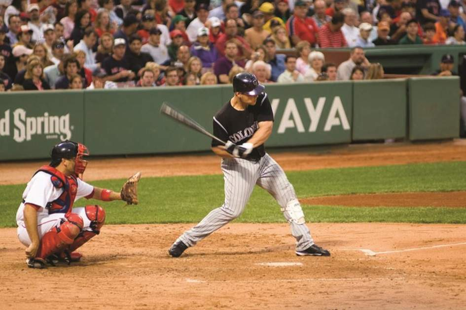 Mid Game with the Red Sox in Boston, (photo by Richard & Abe Nowitz)