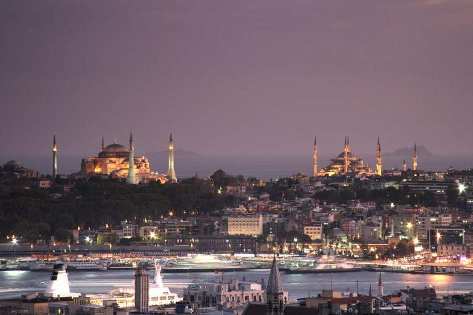 View over Istanbul by night, (photo by Rebecca Erol)