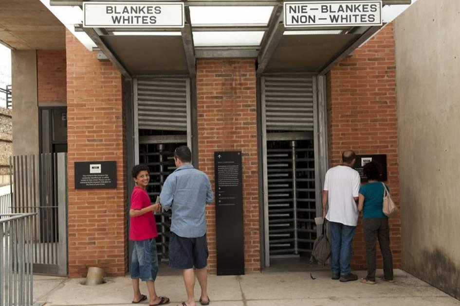 Gates used during the apartheid era, Apartheid Museum, Johannesburg, (photo by Ariadne Van Zandbergen)
