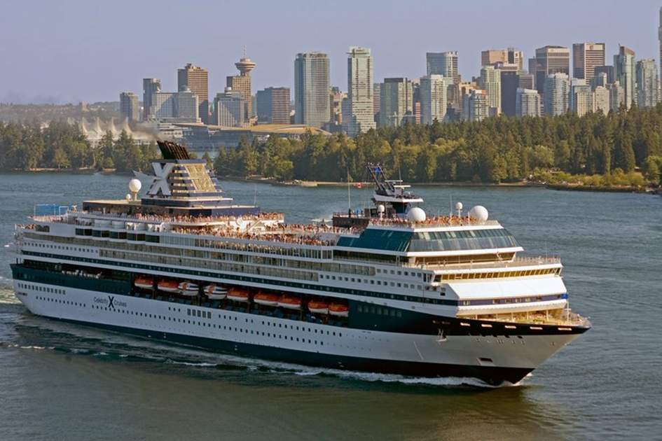 Celebrity Mercury leaving Vancouver, (photo by Tim Thompson)