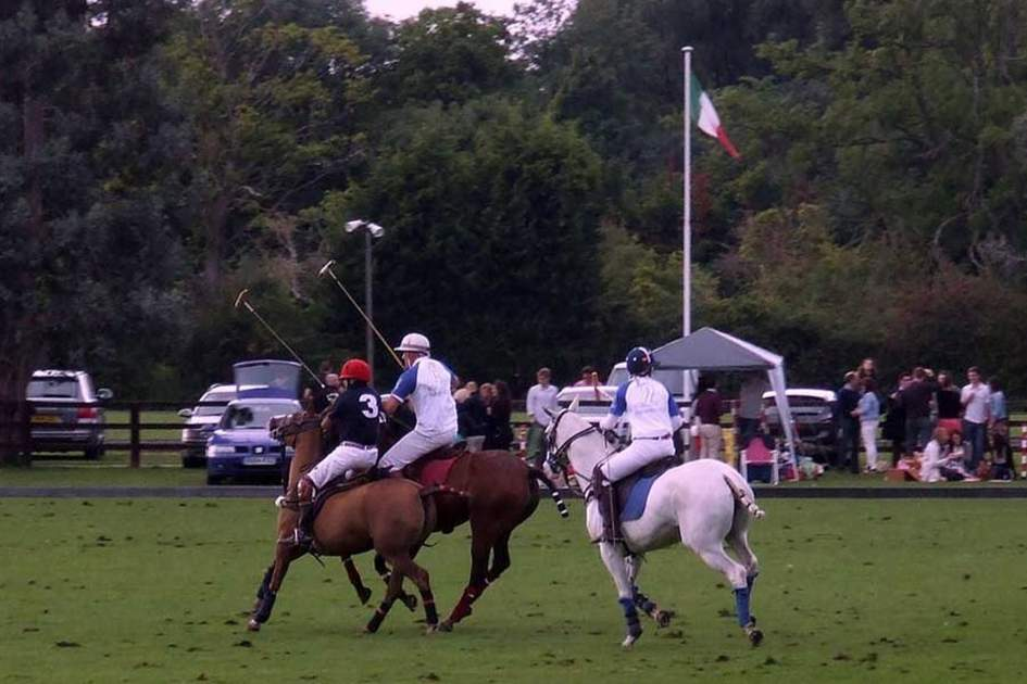 A polo match in a London park, (photo by Peter Curbishley)