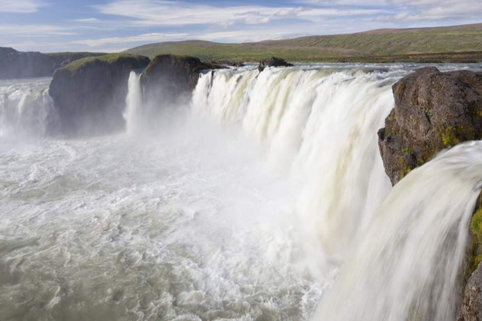 Go??afoss Waterfall, Akureyri, (photo by Ming Tang-Evans)