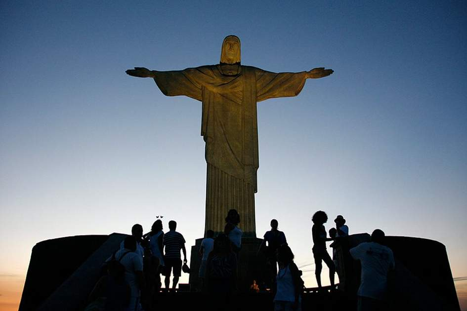 The statue of Christ the Redeemer on top of the Corcovado mountain. Rio de Janeiro, (photo by Yadid Levy)