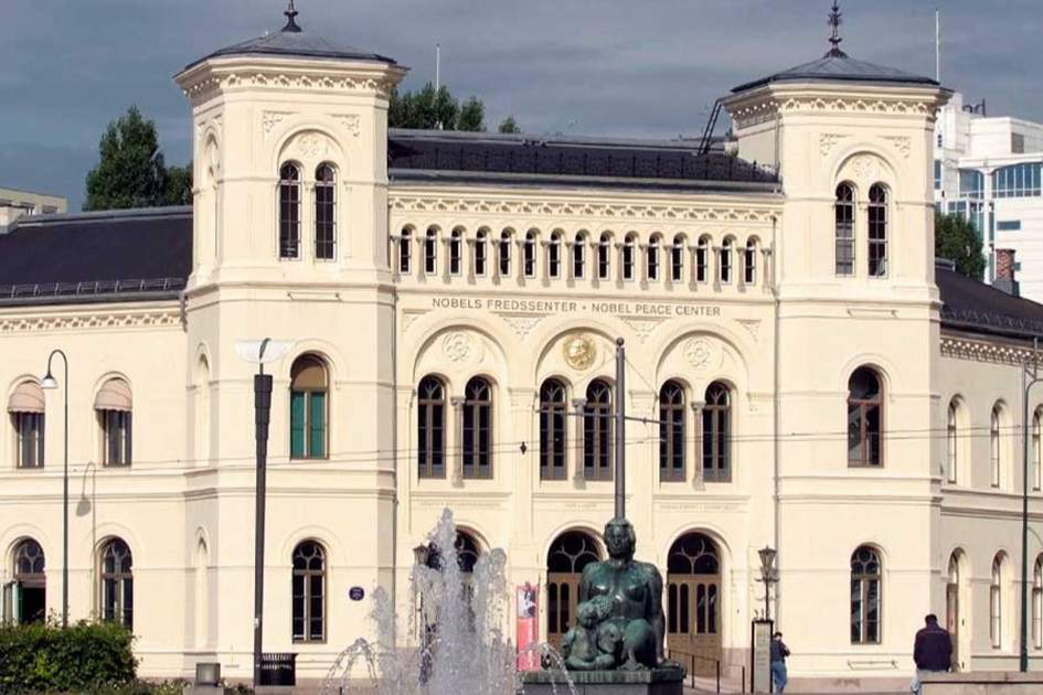 Nobel Peace Centre, Situated in the center of Oslo, (photo by GLYN GENIN)