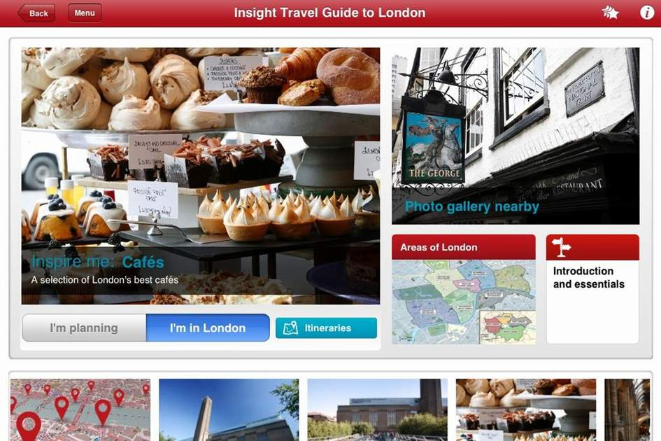 Screenshot from London in the World Cities app, (photo by Apa Publications)