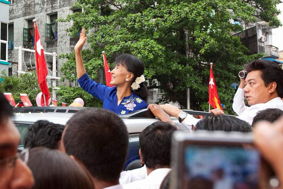 Aung San Suu Kyi, (photo by Corrie Wingate)