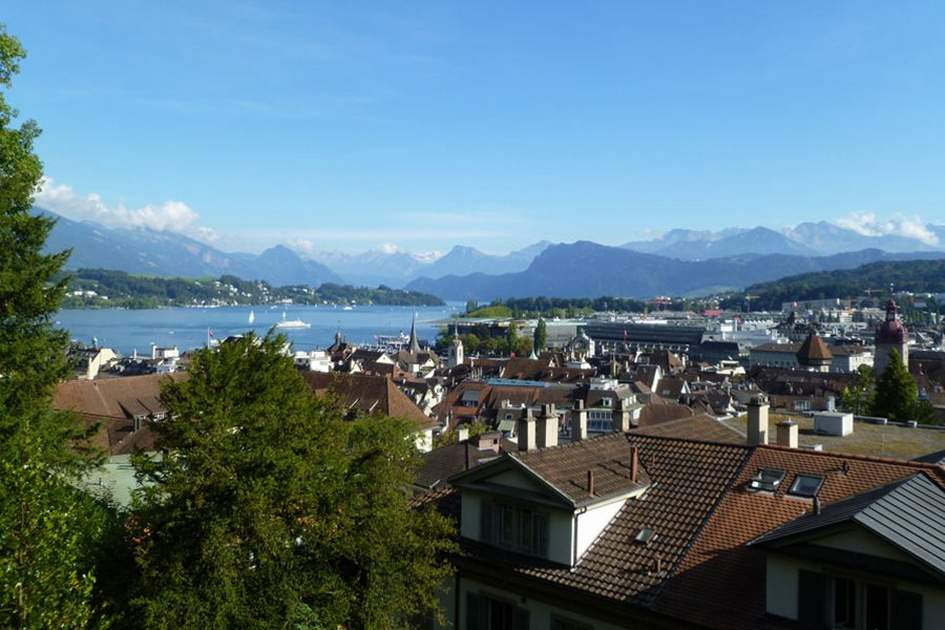 View over Lucerne, (photo by Sarah Clark)