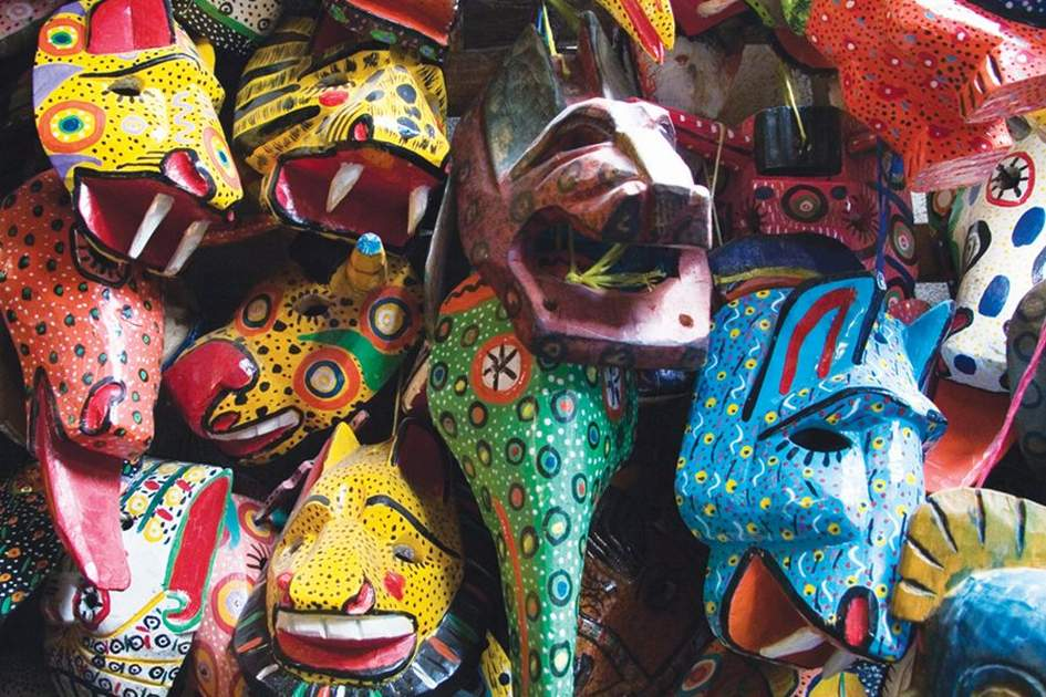 Masks for sale in Chichicastenango. (photo by Corrie Wingate )