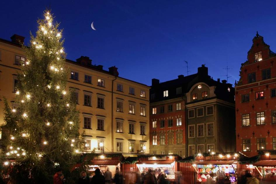 A Christmas market in Stockholm, Sweden, (photo by Ola Ericson)