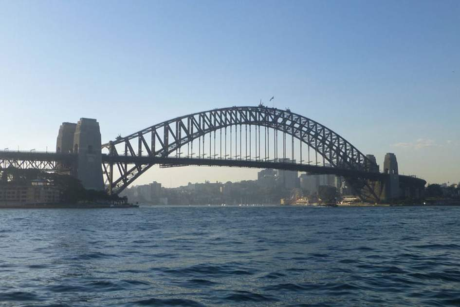 Sydney Harbour Bridge, (photo by Becky Lovell)